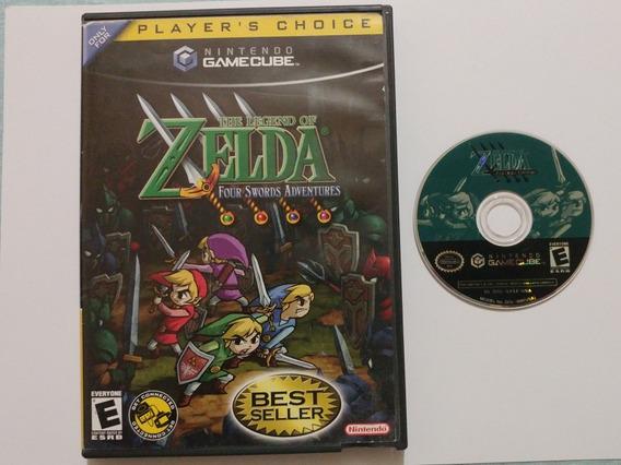 Zelda Four Swords Adventures Rpg Americano Na Caixa! Jogaço!