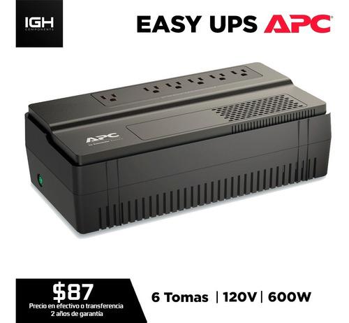 Ups Apc Bv1000 120v 6 Tomas 600w Regulador De Voltaje Easy