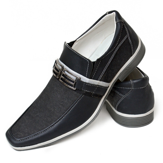 Sapato Social Masculino Preto Em Couro - Calçados Masculinos