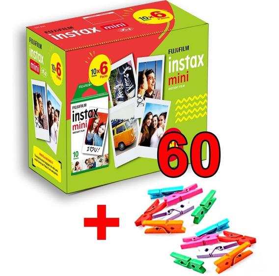 Filme Instax 60 Poses Entrega + Rápido Nova Embalagem