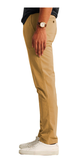 Pantalones De Gabardina Corte Chino Intermedio Varias Marcas