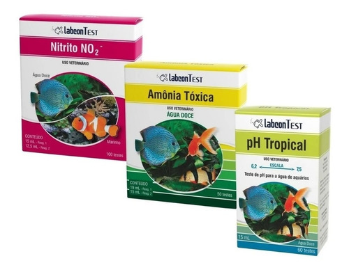 Imagem 1 de 4 de Alcon Kit Teste Para Aquário Doce - Amonia - Nitrito - Ph