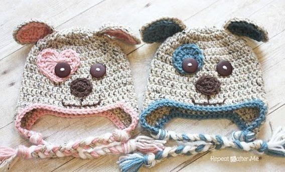 Gorro Perrito Tejido Crochet