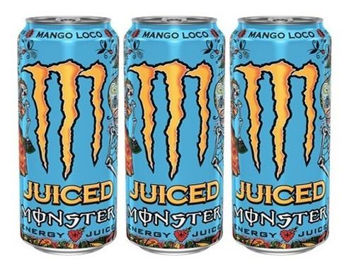 Monster Energy Mango Loco 473ml (3 Unidades)