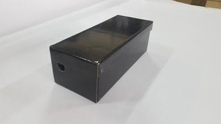 Caixa De Sapato Preta Embalage. De Papelão 12 X 28 - Kit 10