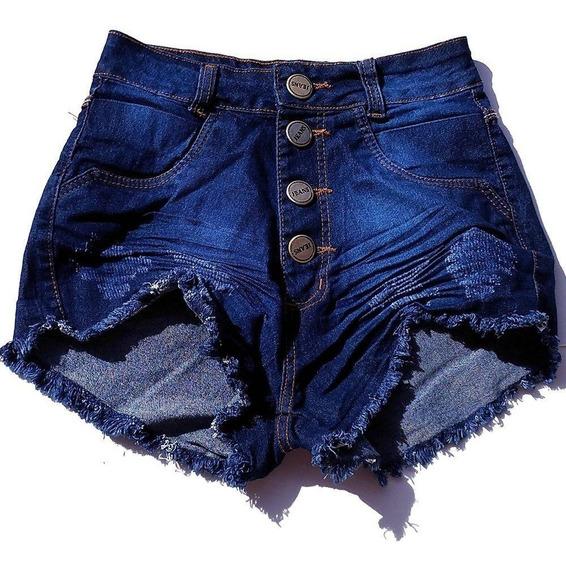 Kit 02 Shorts Meninas Jeans Juvenil Feminina Lycra 2 Ao 16