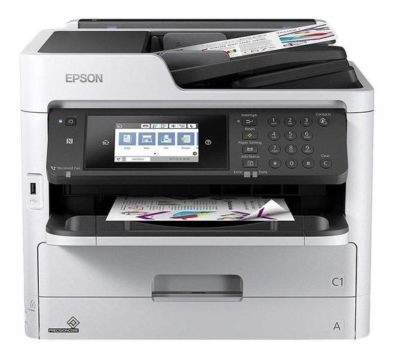 Impressora a cor multifuncional Epson WorkForce Pro WF-C5790 com wifi 100V/240V branca e preta