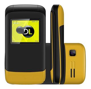 Celular Dl Yc230 Amarelo Flip - Dual Chip, Tela De 1.8, Câme