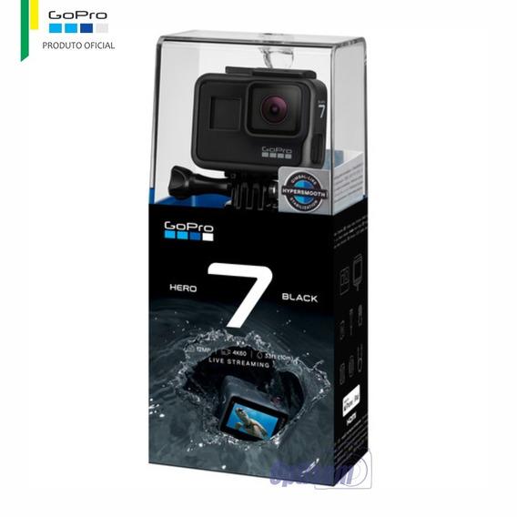 Gopro Hero 7 Black 4k60 + Cartão 32gb | Oficial Gopro Brasil
