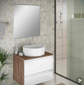 Espelho Para Banheiro Com Bisotê 65cm X 50cm Com Botões