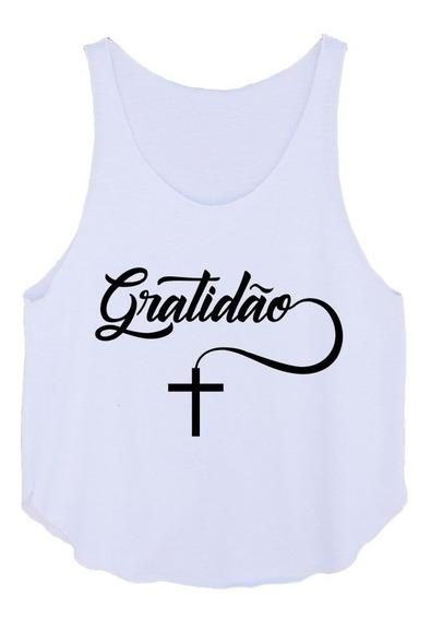 Cropped Feminino Jesus Fé Gratidão Academia Fitness Até Gg