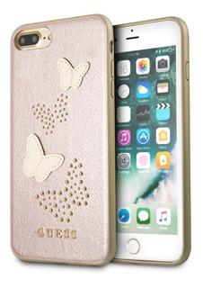 Funda Case Guess Mariposas Rosa iPhone 6,7,8 Plus Original