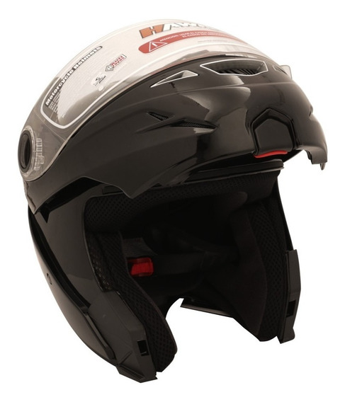 Casco Rebatible Moto Hawk Rs5 Flip Up Abs Brillo Yuhmak