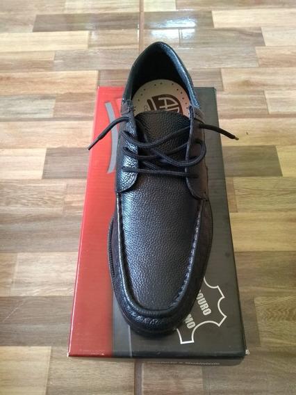 Sapato Social Abc Couro E Borracha Legítimos