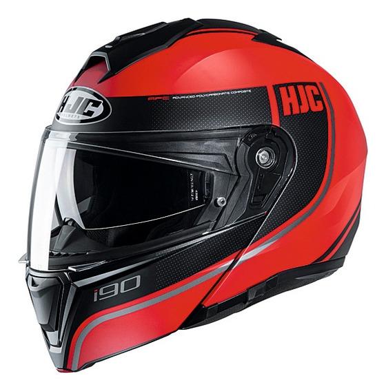 Casco Moto Hjc Rebatible I90 Davan Mc1sf