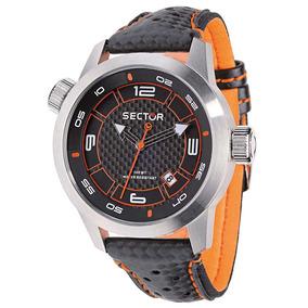 Relógio Masculino Analógico Sector Ws30652j - Preto/laranja