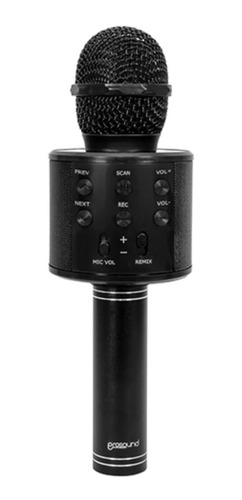Imagen 1 de 1 de Microfono Karaoke Prosound Bluetooth Black Revogames