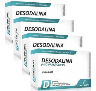 Emagrecedor Termogênico Desodalina Kit 4 Unid 60 Cáp Cada