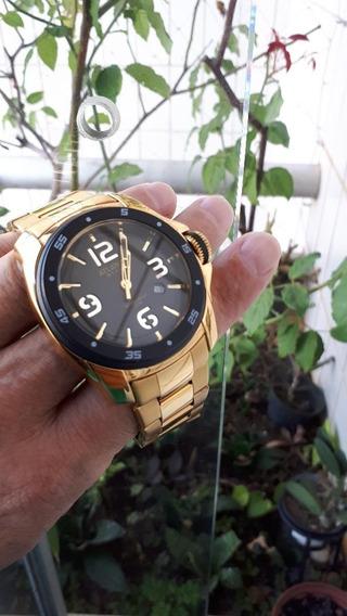 Lindo Relógio Original Atlantis Dourado Rpc