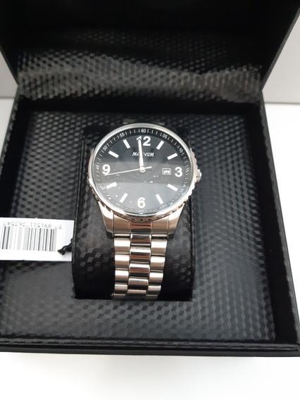 Relógio Magnum Masculino Ma31364t Casual Prata Social