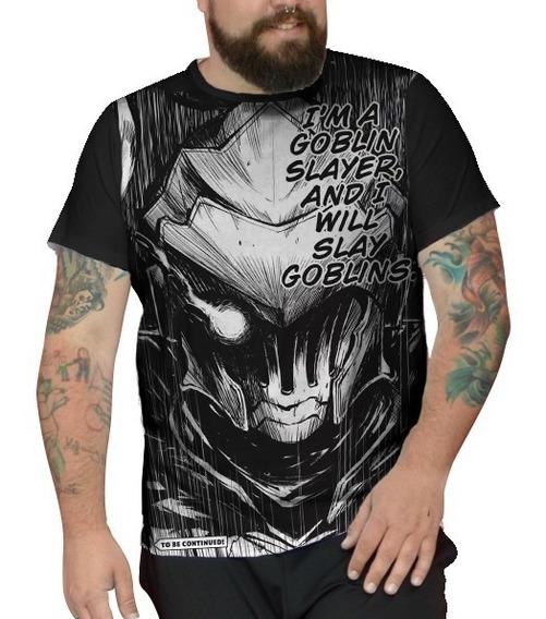 Camiseta Plus Size Unissex Anime Goblin Slayer Mangá Dark Hq