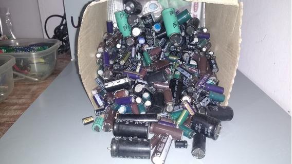 Lote Capacitores Electrolíticos Varios Voltajes - Usados