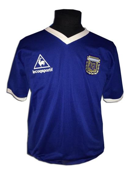 Camiseta Seleccion Argentina Retro Suplente Lecoqsportif