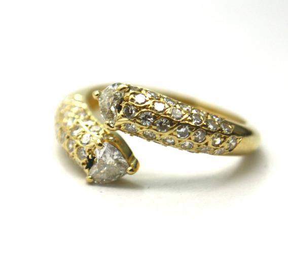 Oferta Anel Ouro 18k 750 Com Diamante 50pt Frete Grátis D747