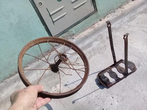 Porta Equipaje De Bici Infantil Antigua Y Ruedita