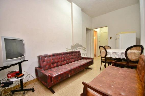Apartamento Guarujá Pitangueira, Sala, Quarto, Cozinha, Banheiro, Elevador E Portaria 24 Horas. - Ap0908