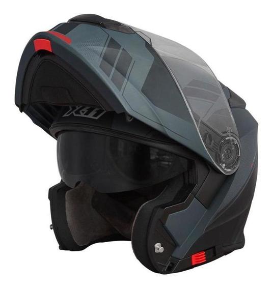 Capacete Moto X11 Turner Trooper Escamoteavel Preto Fosco