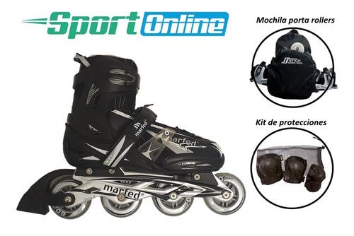 Rollers Profesionales Combo + Protecciones + Mochila