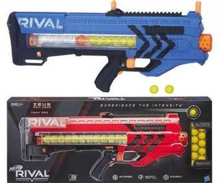 Combo 2 Lanzadores Nerf Rival Zeus Mxv-1200 Azul Y Roja