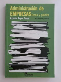Libro / Administración De Empresas / Agustin Reyes Ponce