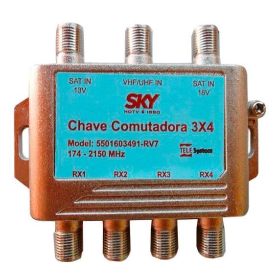 Chave Comutadora 3x4 Sky Telesystem