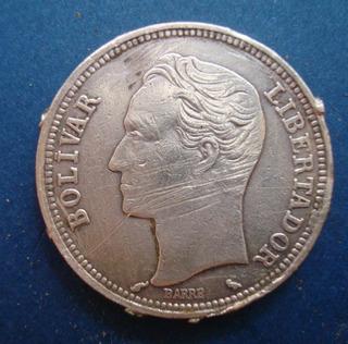 Moneda De Plata De 2 Bolivares 1965 10 Gr Ley 835 V Descripc