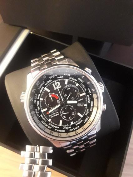 Relógio Citizen Chronograph Steel Gmt Completo