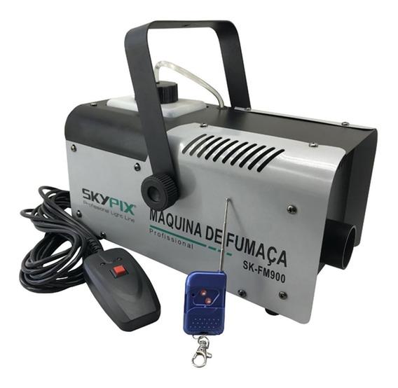 Máquina De Fumaça Skypix Sk Fm 900w 110v Profissional