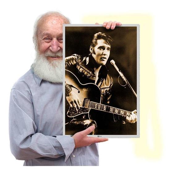Quadro Fotografia Elvis Presley Rockabilly Poster Tam. A3 02