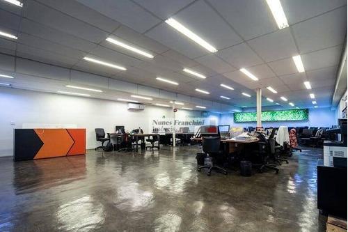 Salão Para Alugar, 300 M² Por R$ 22.000/mês - Jardim Paulistano - São Paulo/sp - Sl0017