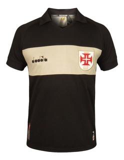 Camisa Vasco Diadora Goleiro Oficial 3 - Preto