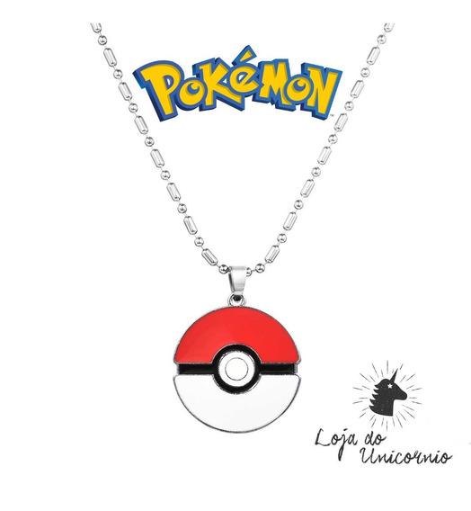 Colar Cordão Com Pingente Pokebola Pokémon Go