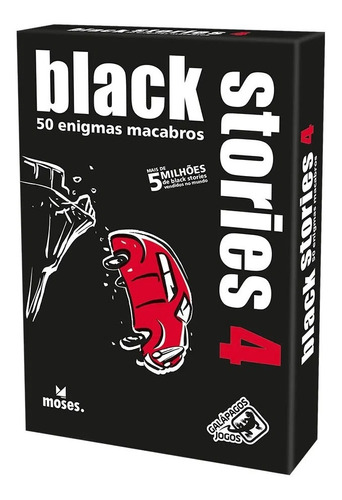 Black Stories 4 50 Enigmas Macabros Lacrado Galápagos Jogos