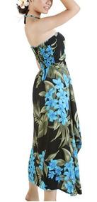 Vestido Polinesico Tipanie Azul Envio Gratis