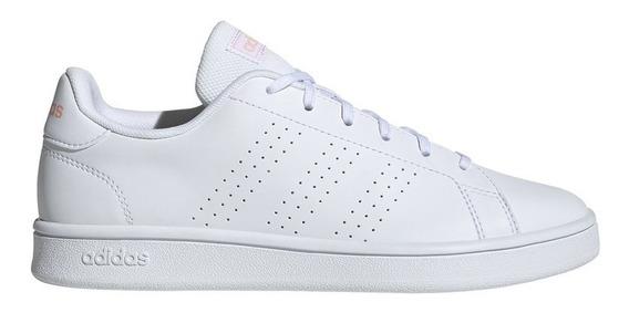 Tenis adidas Advantage Base Blanco- Salmon Original