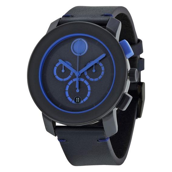 Reloj Movado Bold Azul Piel Hombre 3600349