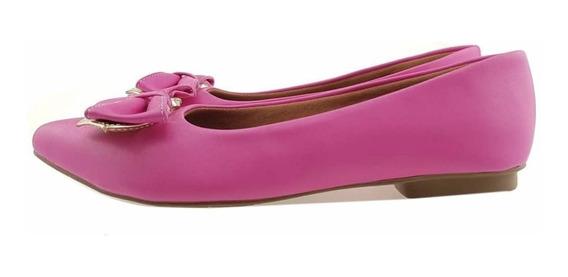 Sapatilha Laço Dourado Azul E Rosa Pink Confortável! 307