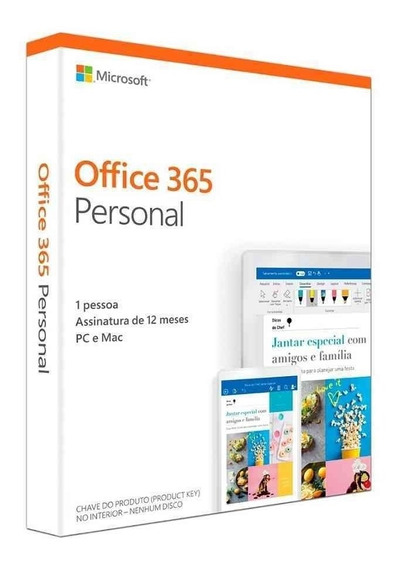 Microsoft Office 365 Personal Pc / Mac Assinatura Anual