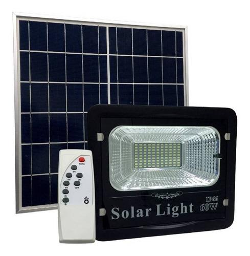 Foco Iluminación Solar 60w Con Panel