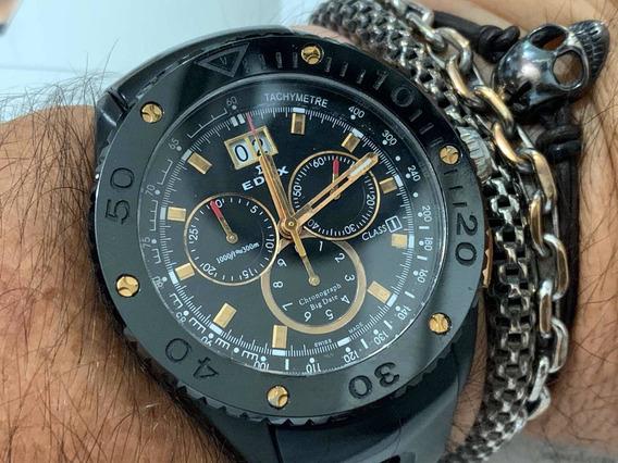 Edox Chronograph Big Date Class 1 Sapphire Quartz 300m Swiss